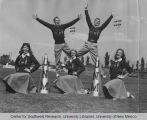 Athletics - UNM Lobo Cheerleaders - posed on Zimmerman field