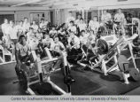 Athletics - UNM Lobos Wrestling Team in weight gym