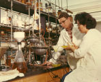 Student Publications - Chemistry laboratory - man and woman