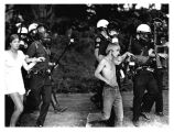 1970 student strike - police in riot gear arresting students