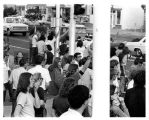 1970 student strike - blockade at campus entrance