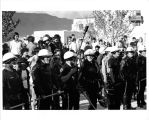 1970 student strike - police in front of Mesa Vista Hall
