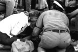 1970 student strike - M.A.S.H. assisting student struck by car