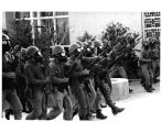 1970 student strike - National Guard advancing down mall