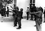 1970 student strike - National Guardsmen holding guns with bayonets