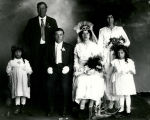 Studio portrait of wedding party, Albuquerque