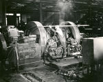 Wheel lathe operator at Atchison, Topeka and Santa Fe Railway shops workers, Albuquerque, New...
