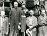Ginger Rogers and Atchison, Topeka and Santa Fe Railway shops personnel, Albuquerque, New Mexico...