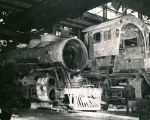 Locomotive repair at Atchison, Topeka and Santa Fe Railway shops, Albuquerque, New Mexico c.1940s