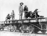 Flatcars with Federal Machine Gunners, 1918