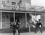 Mock gunfight, Little Beaver Town, Albuquerque