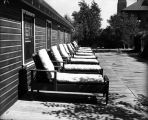 Sanatoriums, sun deck and chaise lounges at St. Joseph's