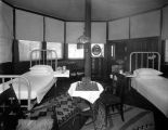 Sanatoriums, interior of furnished cottage at St. Joseph's