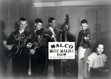 Malco Music Makers at KGGM radio station studio, Albuquerque