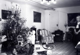 Christmas scene in home on Parkland Circle, Albuquerque