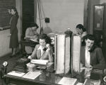 Albuquerque Municipal Airport, Pioneer Airlines office workers are taking reservations