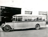 Albuquerque Bus Company, Bus #9 in front of garage