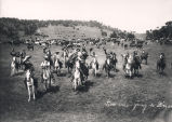 Cowboys Going to Dinner, cowboys and cattle herd, New Mexico