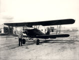R.L. Harrison Company biplane at the Albuquerque Airport, Albuquerque