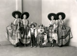Group portrait of dancers in Mexican costumes, Albuquerque