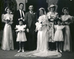 Wedding party group portrait, Albuquerque