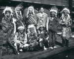 First American Pageant, group in native american costume, Albuquerque