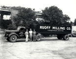 Ruoff Milling, Flour and Feed Mill truck with employees, Albuquerque