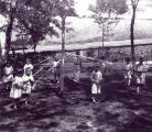 Children and maypole, Highland Park, Albuquerque