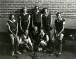 Field hockey players studio portrait, Albuquerque