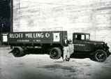 Ruoff Milling, Flour and Feed Mill truck with drivers, Albuquerque