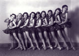 Tap dancers studio portrait