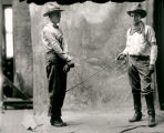 Edmund Cobb and Slim Freeman in costume for Rio Grande Motion Picture Company film, Albuquerque