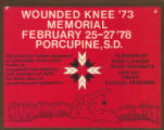 Wounded Knee 1973 Memorial