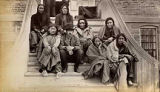 Indian agent with unidentified group, New Mexico