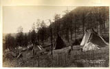 Mescalero Apache camp, New Mexico