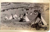 Mescalero Apache camp in Tularosa Canyon, New Mexico