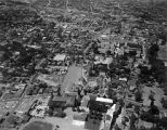 Aerial view of College Street area, Santa Fe, New Mexico