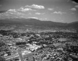 Aerial view of state capitol area, Santa Fe, New Mexico