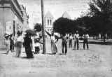 Group on Plaza, Mesilla, New Mexico