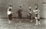 Zuni Pueblo musicians and dancers, New Mexico
