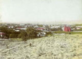 View of Santa Fe from hill looking southwest, New Mexico