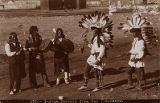 """Indian Dancers from San Ildefonso"", New Mexico"