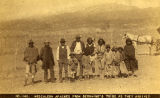 """Mescalero Apaches from Geronimo's Tribe as they arrived at the Ramona School"", Santa..."