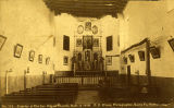 """Interior of Old San Miguel Church, Built in 1550"", Santa Fe, New Mexico"