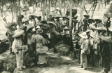 Pancho Villa's troops dancing, northern Mexico