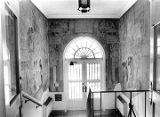 Works Progress Administration mural by Olive Rush in Santa Fe Public Library entrance, Santa Fe,...