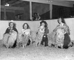 Young 4-H Club members ready their entries in the livestock competition, New Mexico State Fair,...