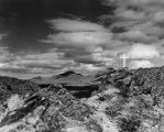 Cross at the top of the Sierra de Cristo Rey peak near Las Cruces, New Mexico and three miles from...
