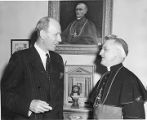 Lord Halifax, British Ambassador to the United States with Archbishop Edwing V. Byrne, Santa Fe,...