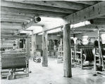Weaving room at McCrossen Weavers, Santa Fe, New Mexico
